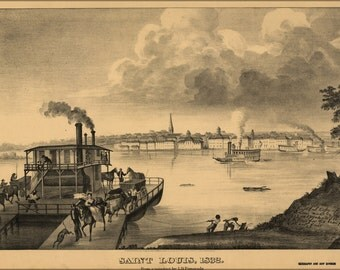24x36 Poster; View Of Saint Louis Missouri 1876 St