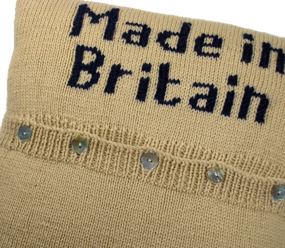 Knitting Pattern Union Jack Cushion Cover : Intarsia knit Union Jack Cushion Cover Downloadable knitting pattern from Kni...