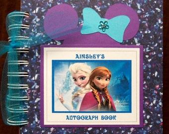 PERSONALIZED Disney FROZEN Inspired Autograph Book Scrapbook Travel Journal Vacation Photo Album