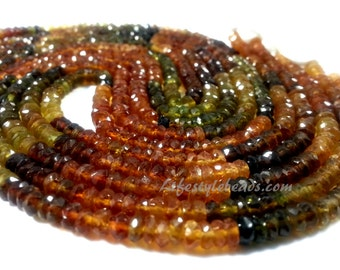 """3.5 , 13.5"""" AAA Petro Tourmaline Faceted Beads"""