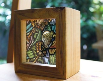Angels Handmade Timber Light Box. See through prints that glow in natural light - just like stained glass!