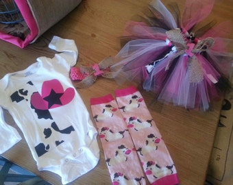 Cowgirl First Birthday Tutu outfit!!!!