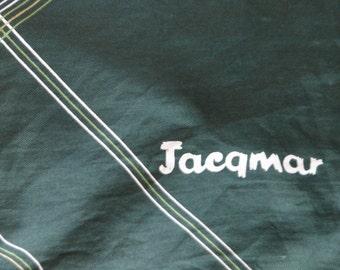 Jacqmar green tartan vintage scarf