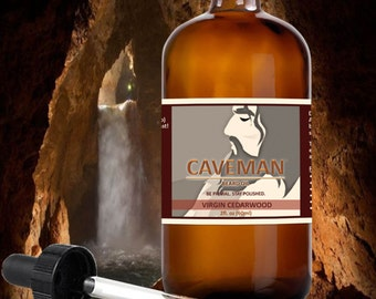 Hand Crafted Beard and Mustache CEDARWOOD Beard Oil Conditioner 2 oz By CAVEMAN® Beard Care Shave, All Natural, Beard Grooming Kit, Balm