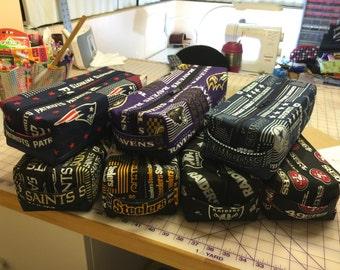 Sports Team Men's or Women's Toiletry Bag with waterproof vinyl lining!