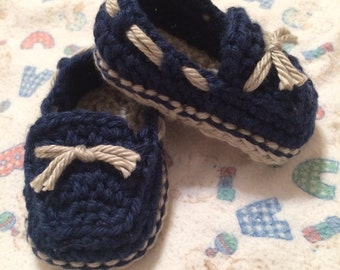 Crochet Lil Boy Loafers, Infant/Toddler - MADE TO ORDER