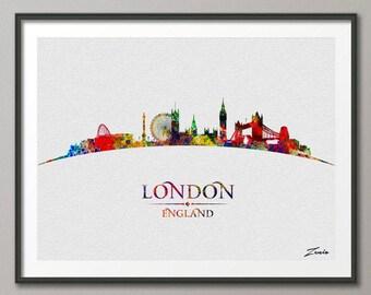 London poster, London art, London print, London painting, London watercolor, watercolor London ,city watercolor print,ciry watercolor A094-1