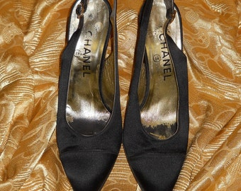 Genuine Chanel shoes!! Satin - Made in Italy