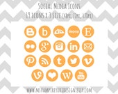 Social Media Icons Set - Orange