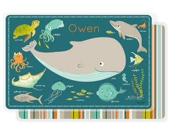 KIDS PLACEMAT - Personalized for kids - ocean sea placemat