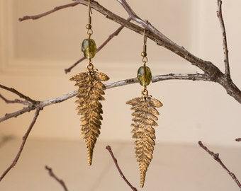 Earthy Fern Earrings