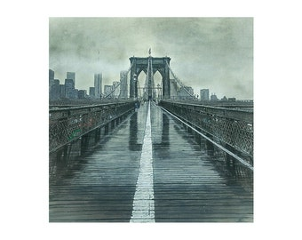 Brooklyn Bridge Black and White Fine Art Print