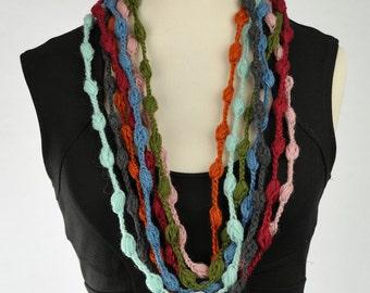 scarf necklace multicolor