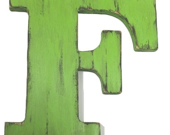 Large letter f wall decor
