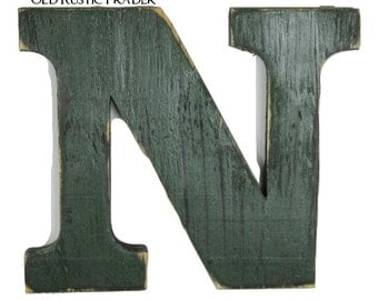 rustic wall letter n home decor letter 8 inch large letter wall decor decorations housewares wedding decor wall hanging painted dark spruce