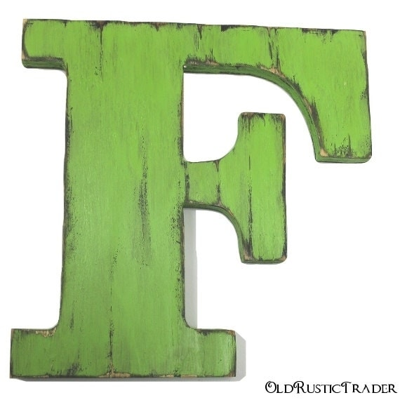 wood letter f hanging wall letters decor wedding guest book letters