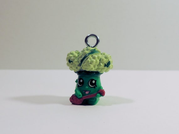 shopkins rockin broc broccoli custom made keychain