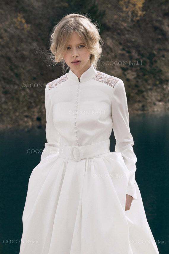 Modern Winter Wedding Dresses : Winter wedding dress designer gown modern