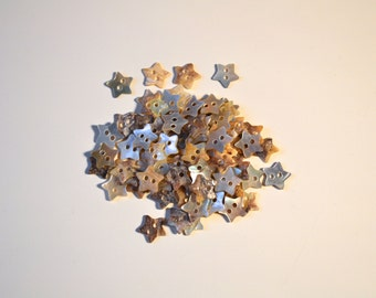 10mm Pearl Shell Star Button (Two Holes)