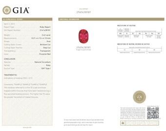 GIA IDENTIFICATION CERTIFICATE