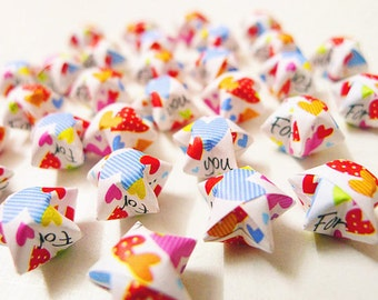 100 Cute Sweet Heart Origami Lucky Stars For You