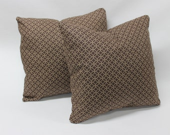 One Brown Decorative Pillow Cover, Decorative Pillow Cover, Brown Pillow Cover, Pillow Cover