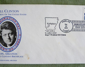 BILL CLINTON - Different Inauguration Day Cachet- Hope, AR- Jan. 20, 1993