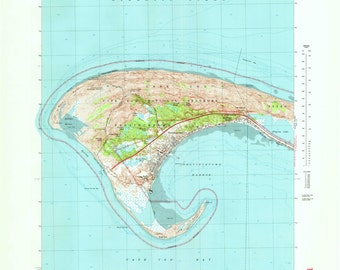 Provincetown Historical Topographic Map 1972