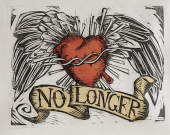 Woodblock Print 'No Longer'