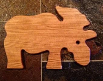 Moose Cutting Board - oak