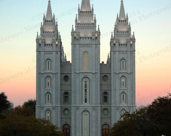 8 x 10 Sunrise over the Salt Lake LDS Temple