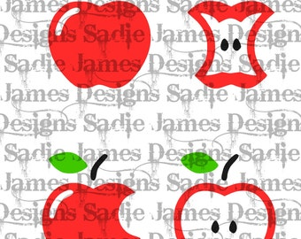 Apples SVG and Silhouette Studio cutting file, Instant download