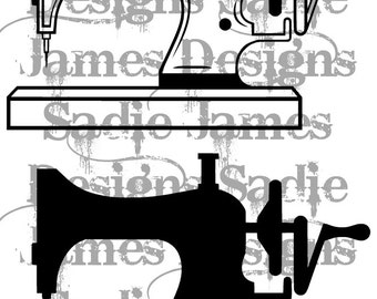 Sewing Machine SVG and Silhouette Studio cutting file, Instant Download