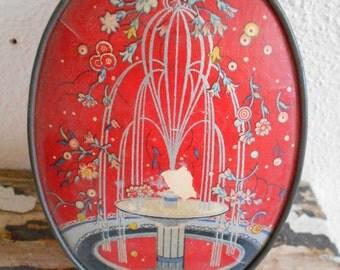 Art Deco Powder Box with Cascading Fountain