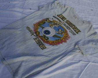 vintage jimi hendrix winterland flying eyeball rick griffin art. original 1968 rock t shirt (on hold)