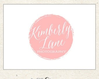 Circle Logo, Premade Logo, Pink Logo, Peach Logo, Photography Logo Design for Photographers, Boutiques