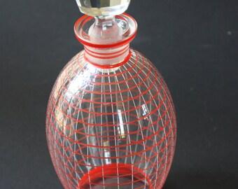 Czech glass carafe