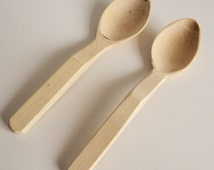 5 '' Tea spoon, handmade, Eco friendly, Wooden tea spoon, Wood spoon, Honey spoon, Bath salt, Spices, Set of 2 pieces