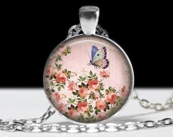 Butterfly Pendant Butterfly Jewelry Wearable Art Butterfly Necklace Pink Butterfly Jewelry Charm