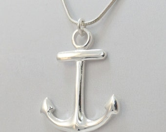 Anchor Necklace - 925 Sterling Silver - Anchor Pendant Nautical Jewelry *NEW*