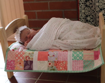 Handmade Doll Quilt/Photo Prop