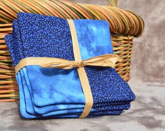 Hand-crafted quilted coasters that make a perfect house warming gift; these coasters also make a perfect extra touch for your dinner parties