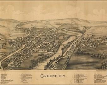 24x36 Poster; Map Of Greene, New York 1890