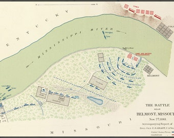 24x36 Poster; Battle Of Belmont Map