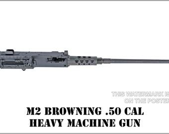 24x36 Poster; M2 Machine Gun, Browning .50 Caliber Machine Gun