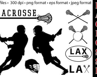 Sale! Premium Lacrosse clipart, vector graphics, digital clip art, digital images collection.