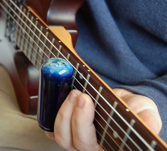 cobalt blue hand blown glass guitar slide size 11 by jimstonetubes. Black Bedroom Furniture Sets. Home Design Ideas