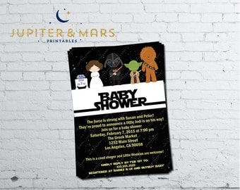 Star Wars Baby Shower Invitation Etsy