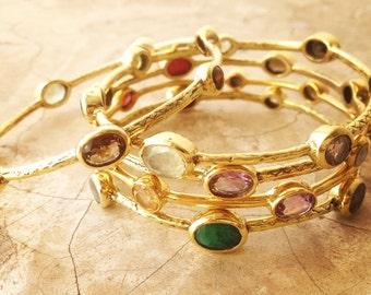 moonstone and brass bracelet ethnic bracelet bohemian. Black Bedroom Furniture Sets. Home Design Ideas