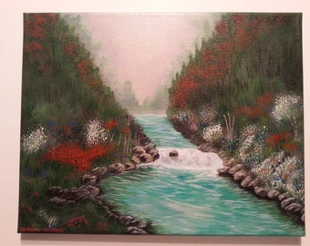 "Original Acrylic Painting entitled ""Serenity"" on 11 X 14 Stretched Canvas"